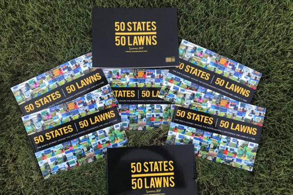 State-hopping lawn cutter releases book