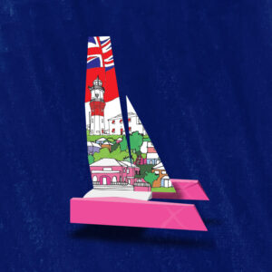 America's Cup Boat Print